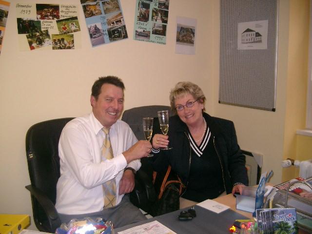 Dirk Büttner mit Margret Sobanski 2004
